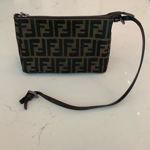 Authentic Fendi Zucca Bag w/ Broken Strap